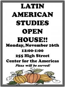 LAST open house November 15